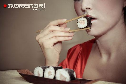 я очень люблю суши и морепродукты