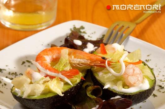 рецепт авокадо с морепродуктами