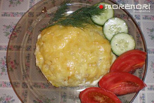 рыба запеченная в картофеле с сыром
