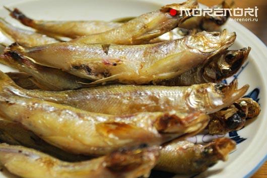 жареная рыба с икрой
