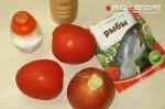 помидоры, лук, пряности и соль