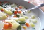 диетический суп на молоке