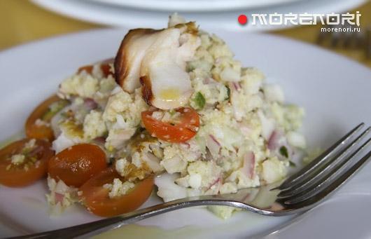 салат из копченой трески