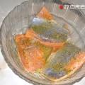 маринованные кусочки семги