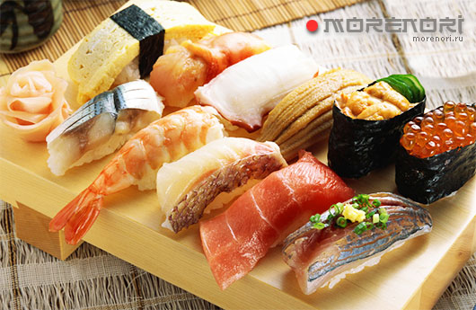 блюда японской кухни на дом