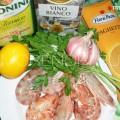 продукты для приготовления пасты с креветками