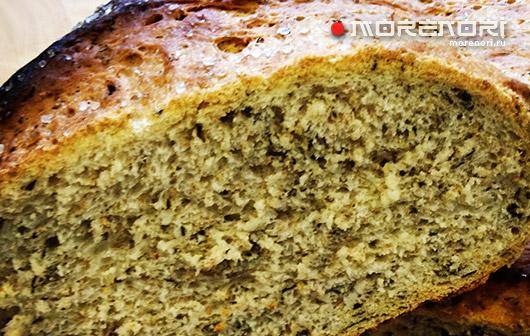Хлеб с морской капустой