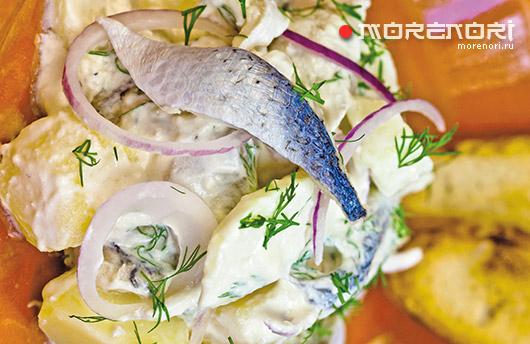 Салат с сельдью по-голландски