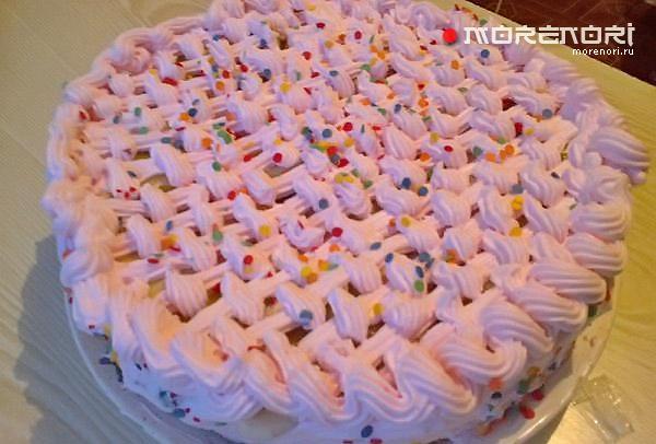 Торт «Клубничная корзинка»