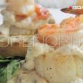 Гребешки с креветками в сливочно-грибном соусе