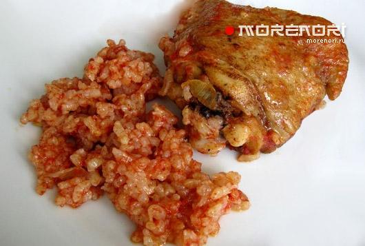 Рецепт курицы в томатном соусе с рисом