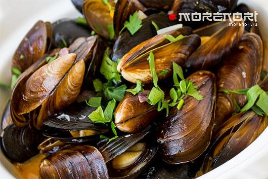 Мидии морской деликатес