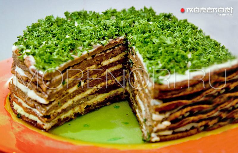 Печеночный торт закусочный