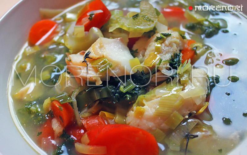 Прозрачный суп из трески