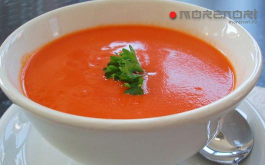 томатно-рисовый суп