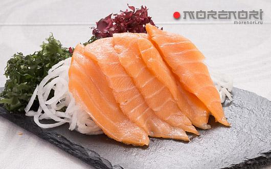 Сашими с лососем - фото Нияма