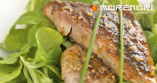 Рецепт тёплого салата с тунцом