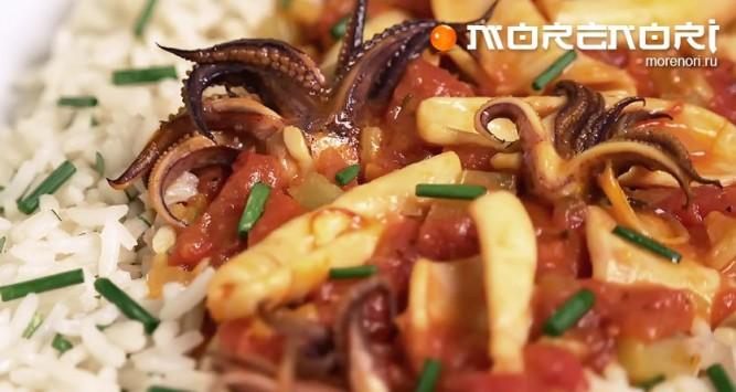 овощи с кальмарами