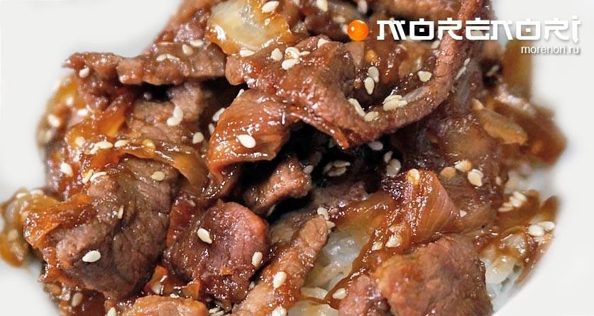 Мясо с имбирем по-японски