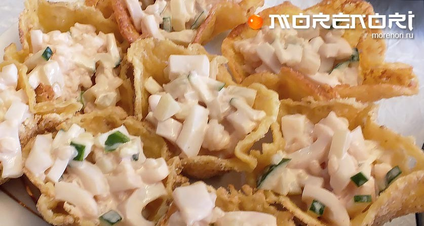 Тарталетки с морепродуктами