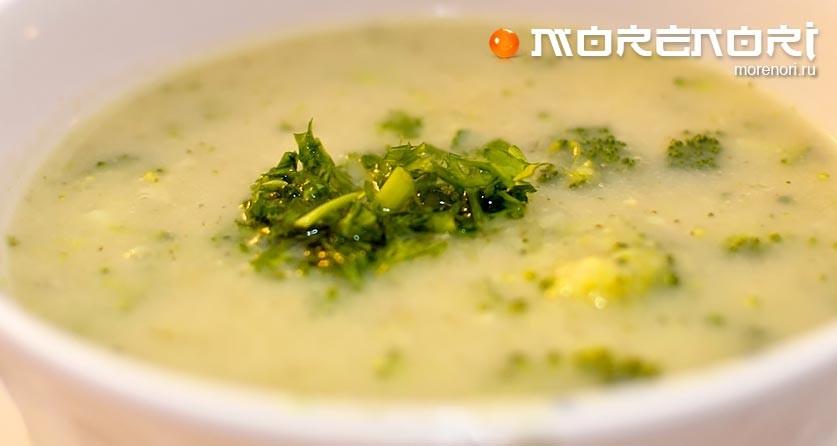 Крем-суп с побегами бамбука